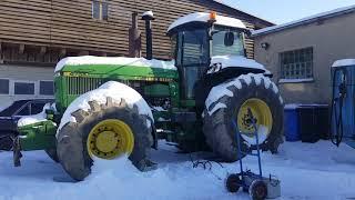 John Deere 4755 Cold Start  -22°C DIESEL Extreme Tractor Cold