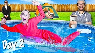 LAST TO LEAVE Backyard Wins $10,000 - Challenge (Is the Game Master over?) | Rebecca Zamolo