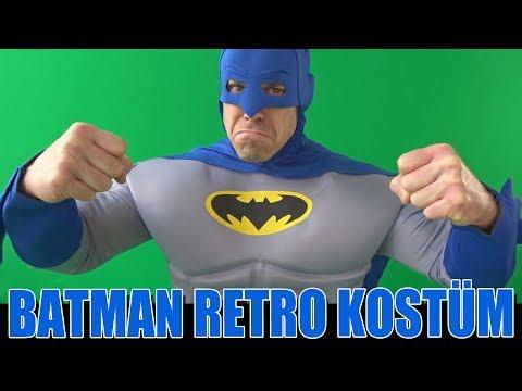 BATMAN RETRO KOSTÜM für Karneval [Vorstellung]