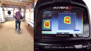 Invenio - Detection of a square target made of 40cm long 8mm rebar
