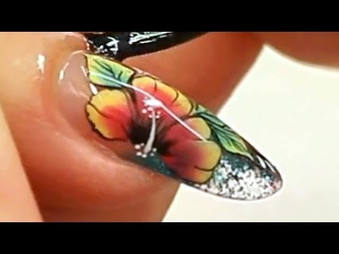 Colour Tip Nail with One Stroke Nail Art Tutorial