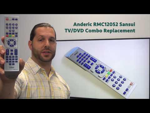 ANDERIC RMC12052 SANSUI TV/DVD Combo Remote Control
