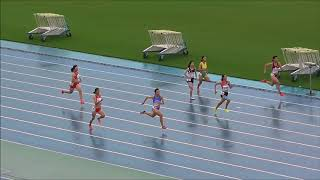 20170916広島県高校陸上新人戦女子100mタイム決勝