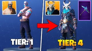 I *FINALLY* Unlocked TIER 4 RAGNAROK Skin In Fortnite Battle Royale!