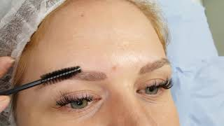 Healed Microbladed Blonde Eyebrows after 1 session by El Truchan @ Perfect Definition
