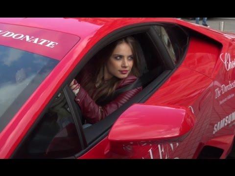 Model Xenia Tchoumitcheva Seen Driving Lamborghini Huracan ...