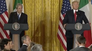 Trump News Conference With Italian Prime Minister-Full Event