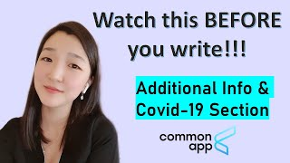 How to write the Common Application ADDITIONAL INFORMATION & Covid-19 section   College Lead