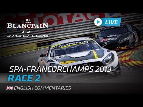 ブランパンGT スパ Race2 ライブ映像