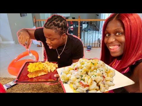 Eva's Seafood Baked Mac And Cheese Recipe |Cooking With Beam Squad|