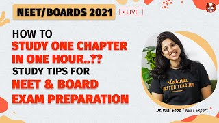 How To Study One Chapter In One Hour..?? Study Tips | NEET and Board Exam Preparation | Vedantu