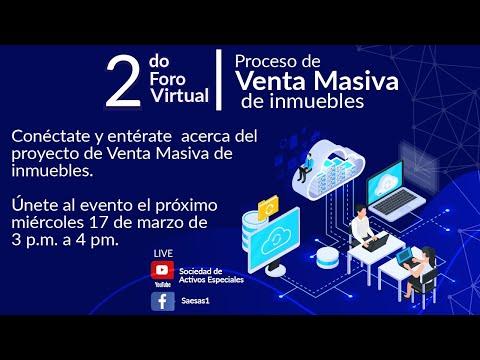 2do Foro Virtual - Proceso de Venta Masiva de Inmuebles