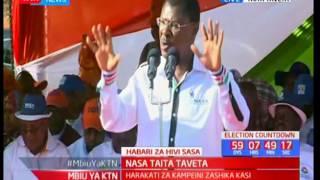 NASA Co-principal Moses Wetangula addresses the residents of Taita Taveta on matters corruption