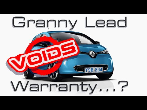 Can Granny Leads Invalidate Your EV's Warranty? Renault Australia Seems To Think So!
