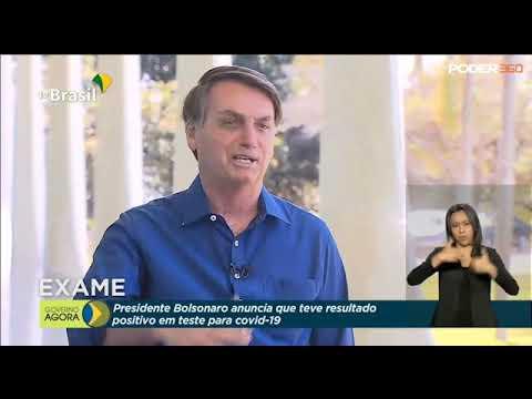 Bolsonaro tira a máscara depois de anunciar que pegou covid-19