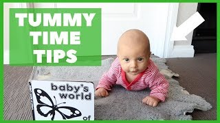 TUMMY TIME TIPS AND TRICKS | HOW TO DO TUMMY TIME | NEWBORN BABY ACTIVITIES AT HOME  0 - 3 MONTH OLD