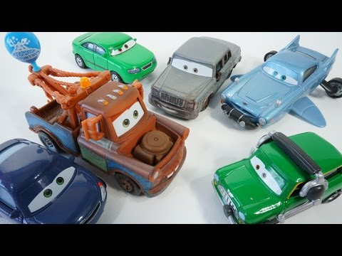 NEW 2016 DISNEY PIXAR CARS FINN MCMISSILE BREATHER MICHAEL SPARKBER RUSTEZE RACING MATER WATER PARK