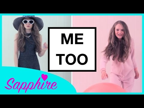 I hope you enjoy my fun version of this awesome new Meghan Trainor song Me Too. I love this song and Meghan so much! Sapphire x