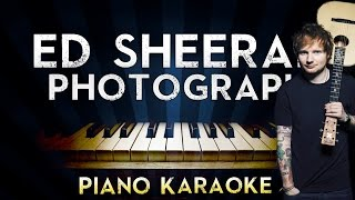 Ed Sheeran   Photograph | LOWER Key Piano Karaoke Instrumental Lyrics Cover Sing Along