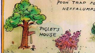 """Winnie-the-Pooh"" theme song with original 1926 100 Acre Wood map!"