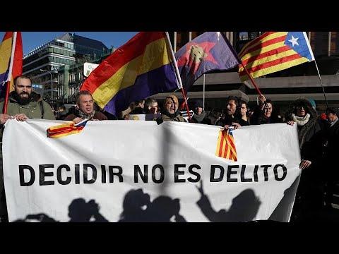 Διαδηλώσεις στη Μαδρίτη για τη δίκη των αυτονομιστών