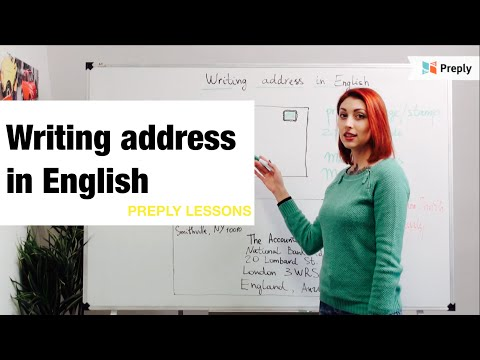 Как правильно заполнять адрес в письме. Английский онлайн