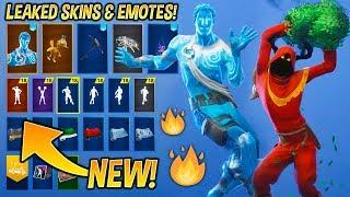 *NEW* Leaked Fortnite Skins & Emotes..! (Christmas Raven, Love Ranger, Red Knight, Cheer up..)