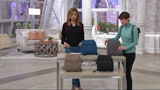 Travelon Anti Theft Signature Slim Backpack on QVC