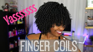 Yall I Tried Finger Coils AGAIN And BABYYYYYY!!!!!