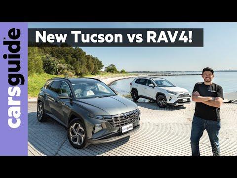 Hyundai Tucson Highlander vs Toyota RAV4 Cruiser Hybrid - SUV Comparison Review Australia