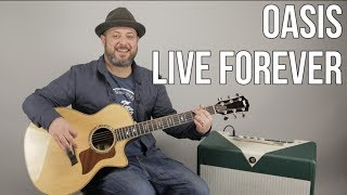 """How to Play """"Live Forever"""" by Oasis on Guitar - Easy Acoustic Songs"""