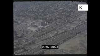 Skyscraper POV Over Los Angeles, 1980s, HD