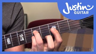 10 Basic Jazz Chords - Guitar Tutorials - JustinGuitar [JA-001]