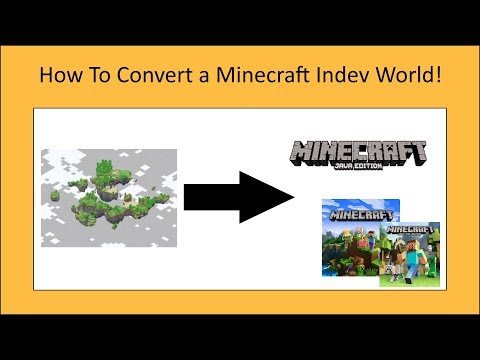 How to convert a Minecraft Indev world to any version you