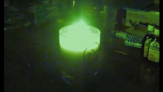 Green flame candle. make a green flame, make green candle