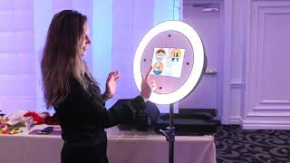 Ring Light Photo Booth, iPad Slim Stand. Runs AC and battery power.