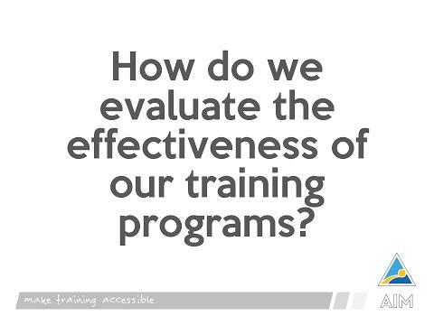 AIM Training Program Evaluation Mechanism