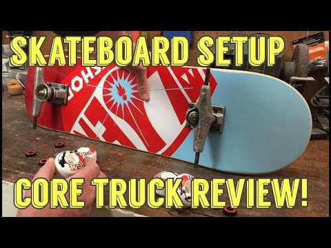 Skateboard setup / Ebay Core trucks review / Core Vs Venture trucks / Unboxing
