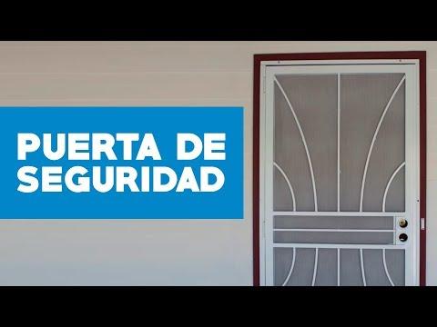 ¿Cómo instalar una puerta de seguridad?