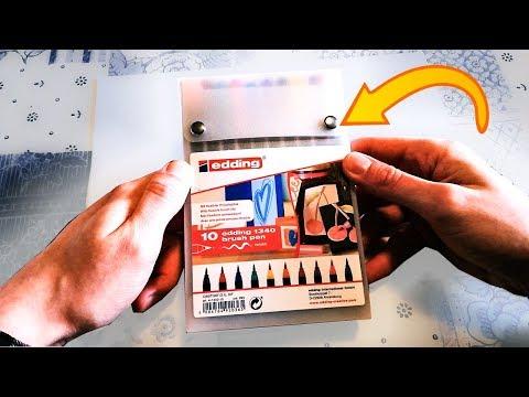 EDDING BRUSHPEN 1340 BOX 10er SET -Kaufen oder nicht? BRUSH PEN Test/Review 2019