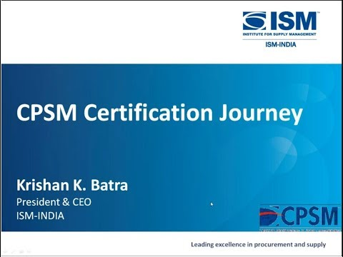 CPSM CERTIFICATION JOURNEY - YouTube