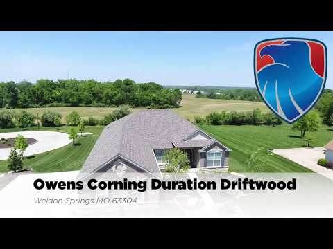 Owens Corning Duration Driftwood was the perfect color choice for this Weldon Springs MO roof. The homeowner contacted us after damaging hail came through the area. We worked with the home owner and their insurance company.