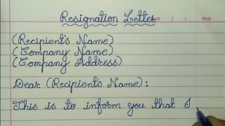 Write Simple Resignation Letter // Resignation Letter in English