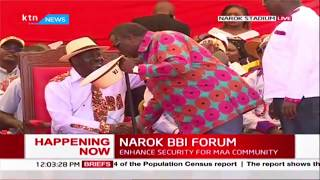 Francis atwoli and Nick salat arrive at Narok stadium for Narok BBI Forum