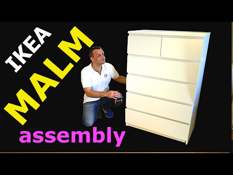 IKEA MALM 6 Chest of drawers Assembly