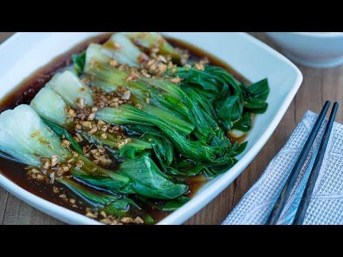 Pak Choi con Salsa de ostras | Pak Choi With Oyster Sauce Recipe