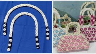 How to make beaded bags handles ব্যাগের হ্যান্ডেল তৈরি করা