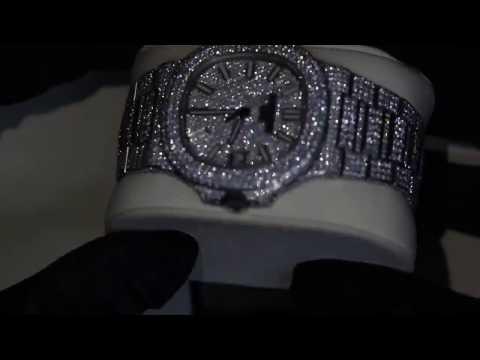 New Luxury Patek Philippe Nautilus Automatic Men's Diamonds Watch box & pappers