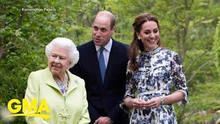 Queen Elizabeth Visits Duchess Kates Garden L GMA