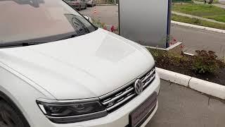 Климат-комфортное ветровое стекло с плёночным обогревом. VW Tiguan R-line 2.0TSI 2019
